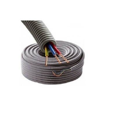 Gaine électrique ICTA préfilée 3G2.5 D20 R/B/VJ - Couronne de 50m