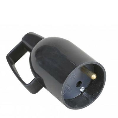 EUROHM - Fiche Électrique Femelle Coiffe 2P+T 16A Noir Anneau - Ref 61047