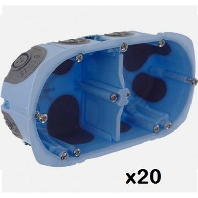 LOT - EUR'OHM -  20 Boîtes d'encastrement XL AIR'métic - 2 Postes - Diam. 67mm - Prof 40 mm - REF 52064