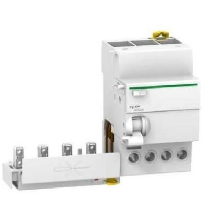 Schneider Electric - Acti9, Vigi iC60, bloc différentiel 4P 40A 30mA type AC 230-240V 400-415V - A9Q11440