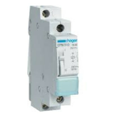 HAGER - Télérupteur 16A - 1F - Tension de 230V - Ref - EPN510