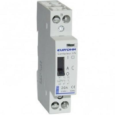 Eur'ohm - Contacteur tarif heures creuses - bipolaires 20 A - Réf 30101