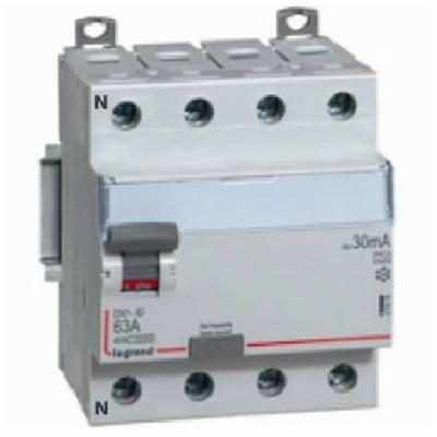 LEGRAND -Interrupteur différentiel DX³-ID - vis/vis - 4p- 400v~-63a - type ac - 30ma - départ bas - Réf - 411662