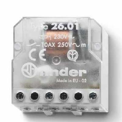 FINDER - Télérupteur - 230VAC - 1 contact NO - 10A - Réf - 26.01.8.230.0000