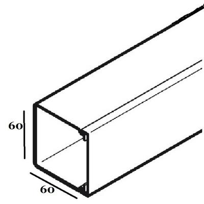 REHAU - Goulotte LE - 60 x 60 - 2 metres - REF - 727894-100