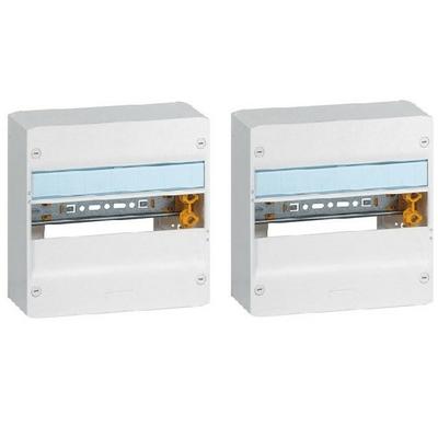 LEGRAND - Lot 2 Coffrets Drivia 13 modules - 1 rangée - IP30 - IK05 - Blanc RAL 9003 - REF 401211