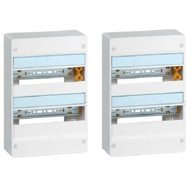 LEGRAND - Lot de 2 Coffrets Drivia 13 modules - 2 rangées - IP30 - IK05 - Blanc -  REF 401212