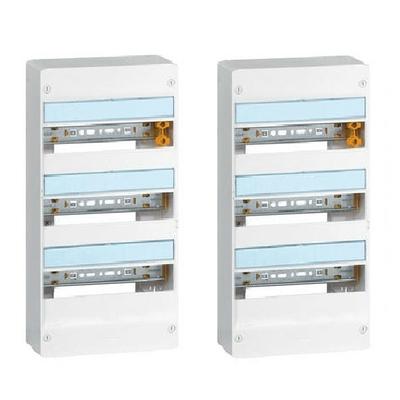 LEGRAND - Lot de 2 Coffrets Drivia 13 modules 3 rangées - IP30 - IK05 - Blanc - REF 401213