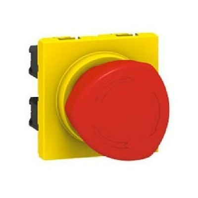 LEGRAND - Poussoir coup de poing arrêt d'urgence Mosaic 10A 250V~ - Ref 076602