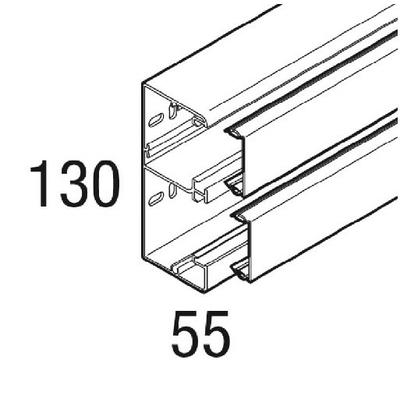 REHAU - Goulotte PVC Blanc - CLIDI 130X55 - 2ml - REF - 735810-100