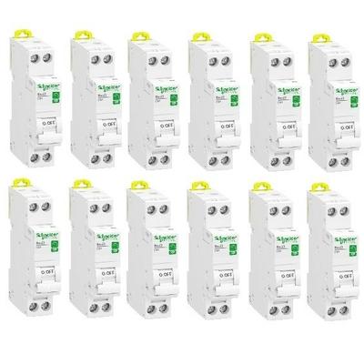 LOT - SCHNEIDER ELECTRIC - 12 Disjoncteurs modulaire Rési9 1 pôle + N - 16A - courbe C - A Vis - REF R9PFC616