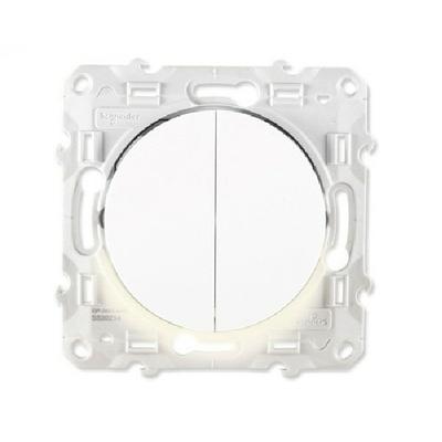 SCHNEIDER ELECTRIC - Interrupteur double va et vient à voyant lumineux Odace - REF S520273