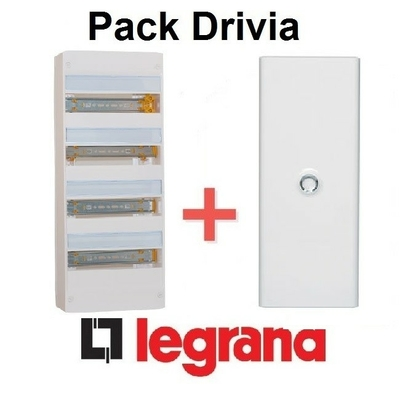 LEGRAND - Pack Drivia - Coffret + Porte -13 modules - 4 Rangées - REF - Drivia214