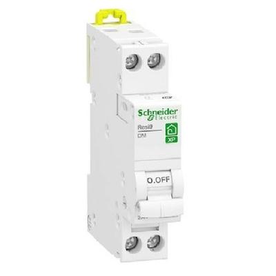 SCHNEIDER ELECTRIC - Disjoncteur 16 A Rési9 XP- 1P+N - Courbe D - Peignable Réf - R9PFD616