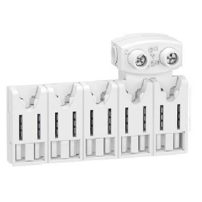 SCHNEIDER ELECTRIC - Rési9 XE Répartiteur 5 modules - Avec connecteur - REF R9EXHC05