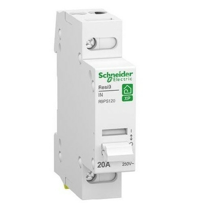 Schneider Electric - Resi9 XP - interrupteur sectionneur - 1P - 20A - 1NO - 250VCA - ref - R9PS120