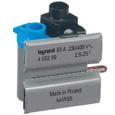 LEGRAND - Borne de connexion DX-ID 63 A - Répartition HX monophasé - Ref - 405209