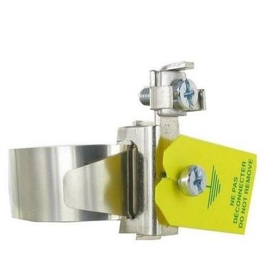 EUR'OHM - Collier d'équipotentialité - 12cm - Diamètre 18 à 32 mm - Réf - 70511