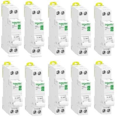 LOT - SCHNEIDER ELECTRIC - 10 Disjoncteurs Rési9 XP - 1Ph+N - 32A - C  - REF R9PFC632