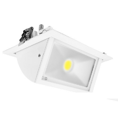 MIIDEX - Spot LED Encastrable Rectangulaire Inclinable avec Alimentation Electronique 40W 4000K - REF - Miidex - 76912