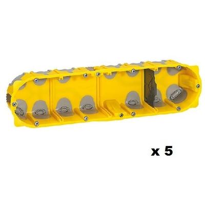 LEGRAND - Lot de 5 Boîtes multipostes Prog. Ecobatibox - 4 postes - prof. 40 mm- REF 080024