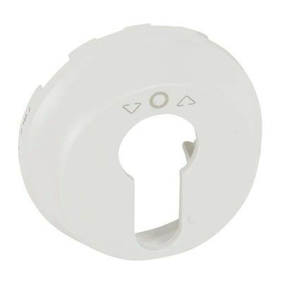 LEGRAND - Enjoliveur Céliane - poussoir à clé 3 positions - blanc - REF 068157