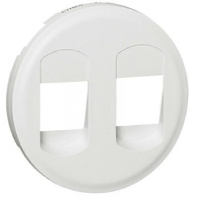 Enjoliveur Céliane - prise HP Double - blanc - LEGRAND - REF 068212