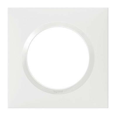LEGRAND - Plaque carrée Dooxie 1 poste finition blanc - REF 600801