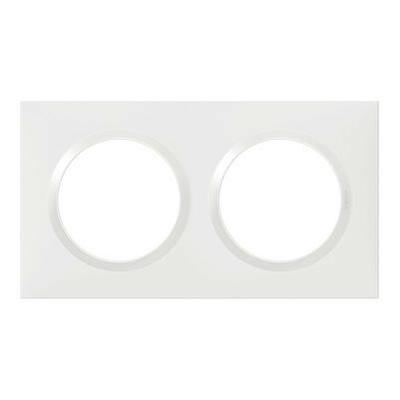 LEGRAND - Plaque carrée Dooxie 2 postes finition blanc - REF 600802