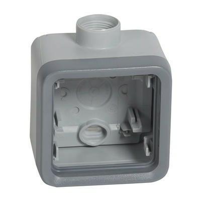 LEGRAND - Boîtier à presse - étoupe 1 poste PG16 Plexo composable IP55 - gris - REF 069652