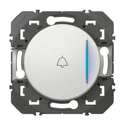 LEGRAND - Poussoir simple avec voyant lumineux et marquage sonnette dooxie 6A 250V~ blanc - REF 600018
