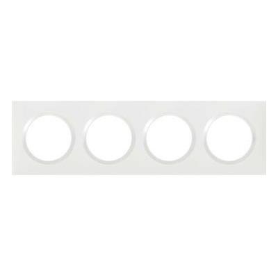 LEGRAND - Plaque carrée dooxie 4 postes finition blanc - REF 600804