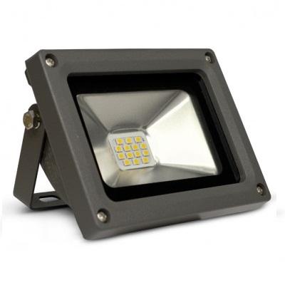 MIIDEX - Projecteur extérieur Led 10W IP65 3000K - Gris - REF 80061