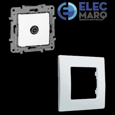 Les Complets LEGRAND NILOE Prise TV/R/SAT blindée Pur avec Elecmarq - Elec 19
