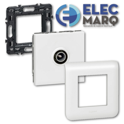 Les Complets LEGRAND Mosaic - Prise TV - Ø9,52mm mâle 2 Mod avec Elecmarq - Elec 4