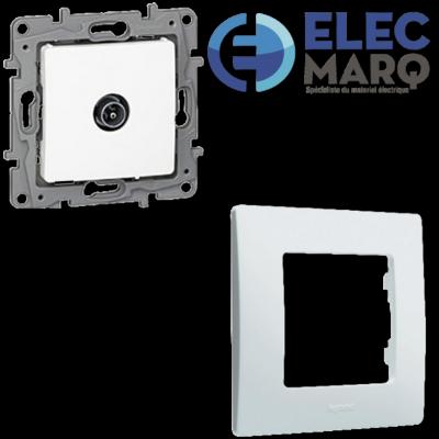 Les Complets LEGRAND Niloé - Prise TV simple mâle avec Elecmarq - Elec 31