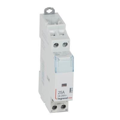 LEGRAND Contacteur de puissance CX³ bobine 230V~ sans commande manuelle - 2P 250V~ - 25A - contact 2F - 1 module Réf 412523