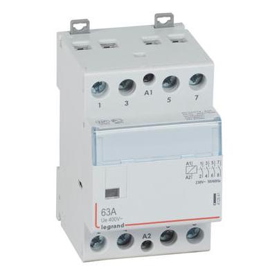 LEGRAND Contacteur de puissance CX³ - sans commande manuelle - 4P 400V~ - 63A - contact 4F - 3 modules Réf 412541