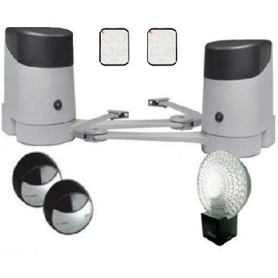 NICE - Kit motorisation portail battant avec 2 télécommandes - Réf - HOPPKCE
