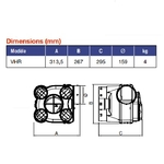 kit VMC Hygro Simple Flux + Bouches à piles AXELAIR VORTICE KHBPRT5160KITH