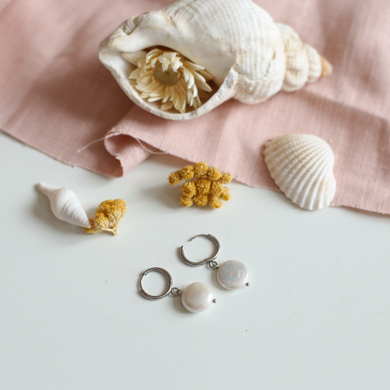 boucles-argent-cerise