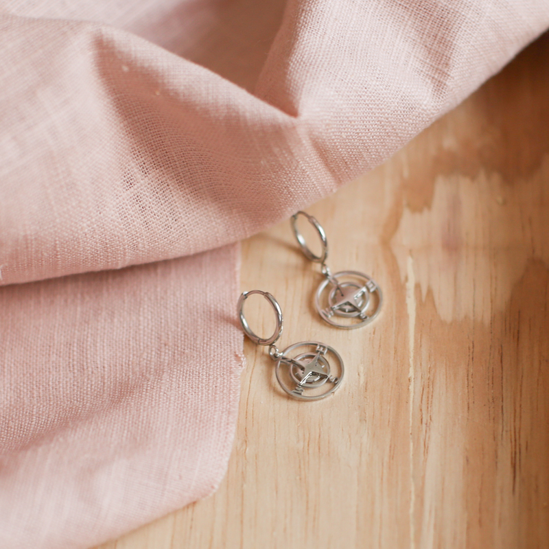 Earings Rosa - Silver