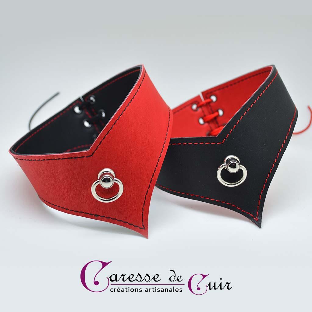 Collier-reversible-noir-rouge-lacé-05