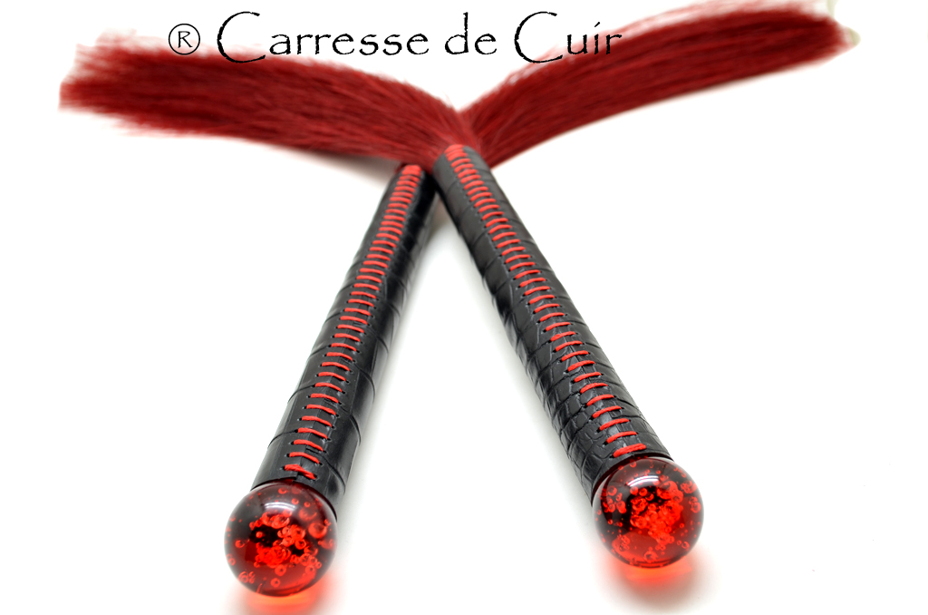 Duo de Martinets en crin rouge