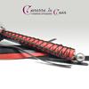 martinet-corset-cuir-noir-rouge-caressedecuir-pommeau-alu-brossé-4