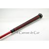 Cravache -cuir- bdsm - caresse de cuir - rouge - noir - 1