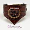 Caresse-de-cuir-ensemble - bracelets - Collier -sm-marron-phyton-cuir-11
