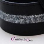 Bracelet-cuir-noir-martelage-argent-fermoir-manille-argenté-3