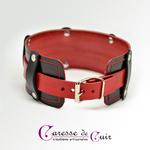 collier-sm-cuir-noir-rouge-anneau d-2