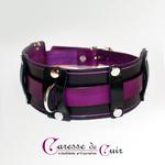 collier-sm-cuir-noir-violet-anneau d-1